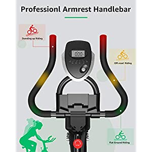 BARWING Exercise Bike Stationary Workout Bike with Magnetic Resistance with Advanced Handlebar Adjustable Indoor Cycling Bike for Home Use Black