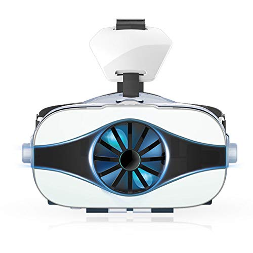 Best Price LUH VR Headset, VR Glasses Headphones Virtual Reality Goggle with Fan/Headset 3D Movie Ga...