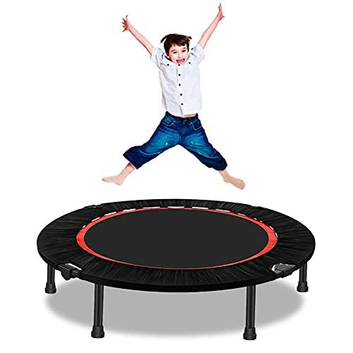 Qdreclod Trampolino pieghevole Fitness Indoor leggero 100 pollici silenzioso esercizio Mini trampolino con cuscinetto di sicurezza per adulti bambini trampolino rimbalzo salto fitness trainer sistema