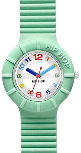 Orologio HIP HOP DONNA NUMBERS COLLECTION quadrante CON LOGO BIANCO movimento SOLO TEMPO - 3H QUARZO e CINTURINO SILICONE VERDE HWU0465