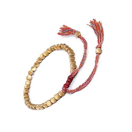 Pulsera tibetana hecha a mano budista trenzada cuerda de la suerte, regalo para San Valentín cumpleaños