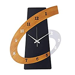 20 Inch Creative Silent Non-Ticking Wall Clock, Modern Metal Frame Nordic Decorative for Living Room Bedroom Hallway Home Cafe 9/25 (Color : Black, Size : 20inch)