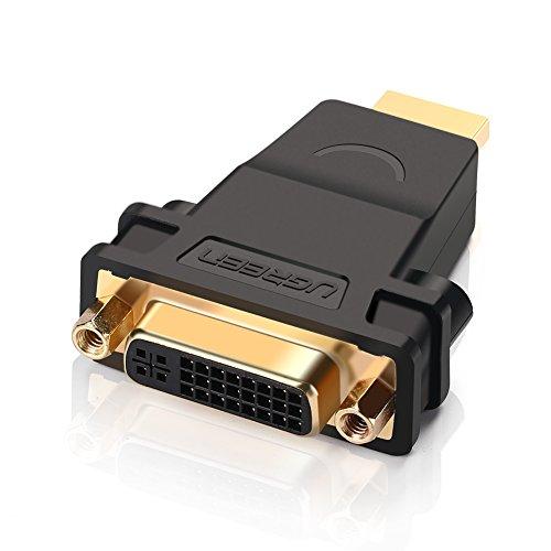 Ugreen Adaptador Bidireccional DVI-HDMI conversor DVI 24+5 Hembra a HDMI Macho Full HD 1080P para plasma , videoproyector, PS3