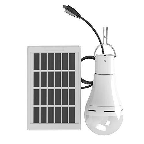 Solarbetriebene Led-Glühbirne, Konesky tragbare Hängelampe wiederaufladbare Zelt-Laterne mit Timer-Fernbedienung Beleuchtung für Outdoor-Camping Wandern (Fernbedienung)