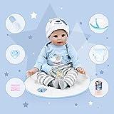 Bebe Reborn Silicona Bebe Reborn Niño Muñecos Reborn Niño 22 Pulgadas 55CM Muñecas para Niñas Muñecos Reborn Muñecas Reborn Regalo de Juguete para Niños Reborn