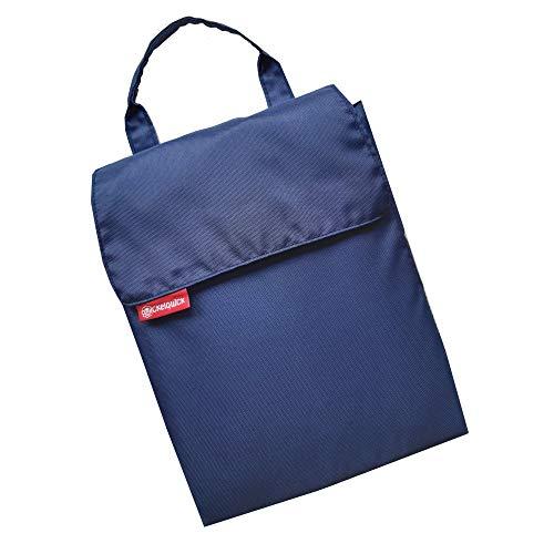 Tragbare Wickelunterlage für unterwegs Wickelquick®/mit einer Hand bedienbar/sicher durch Abrollschutz/4 Seitentaschen/abwaschbar/blau