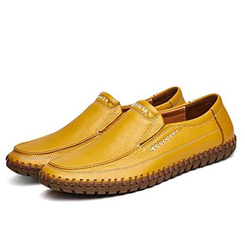 Generic Männer Freizeitschuhe Leder Atmungsaktive Mokassins Mode Verschleißfeste Driving Slip On Flache Schuhe Müßiggänger Männer