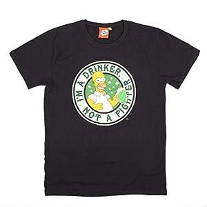 Simpsons – Camiseta – Homer – Duff Beer – Corte recto Negro / Homer Simpson L