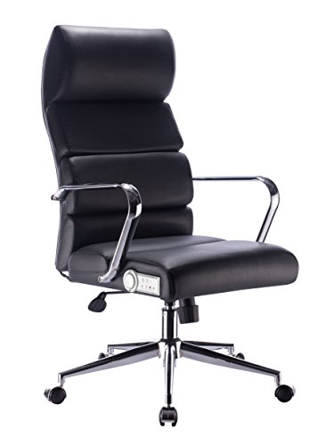 X Rocker Wireless 2.0 Bluetooth Sound Deluxe Executive Office Chair w/ Premium High Tech Sound & Rechargeable Lithium Battery - Caster Wheels, Height Adjust, and Ergonomic Design-Black/Chrome,0778001