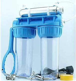 Desineo Kit Filtration Complet stérilisateur UV 6 W 300 Litre/heurerobinet et Double Porte Filtre