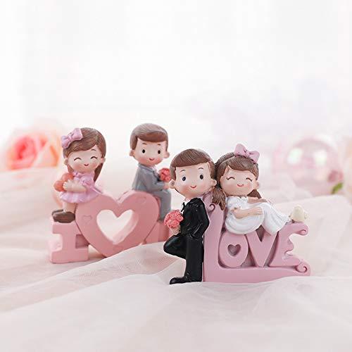 Tanabata - Decoracin para el da de San Valentn con diseo de resina dulce para el coche, propuesta de compromiso, boda, aniversario, fiesta, disfraz, decoracin para el coche