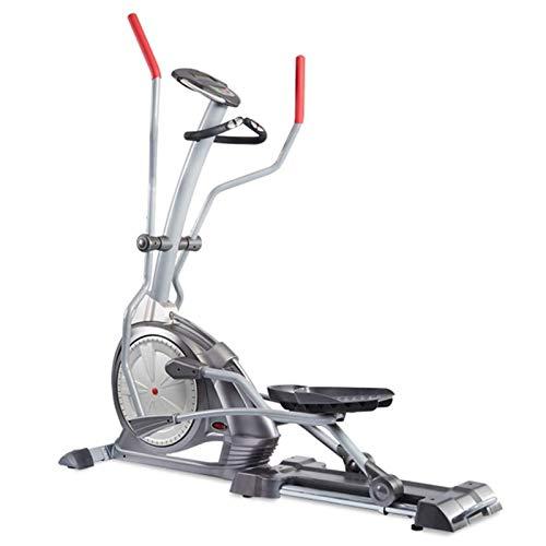 Máquina del entrenador de cruce elíptico para el gimnasio para el hogar - con volante de 10 kg, 145 kg de peso de usuario, monitor LCD, sensor de frecuencia cardíaca y 16 niveles de resistencia magnét