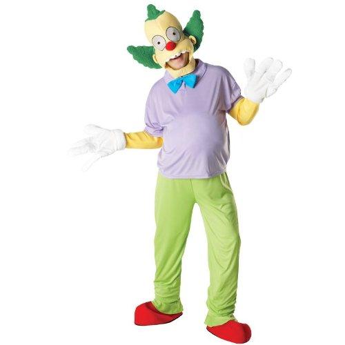 Karneval Herren Kostüm Krusty the Clown zum Simpson Comic Größe M/L