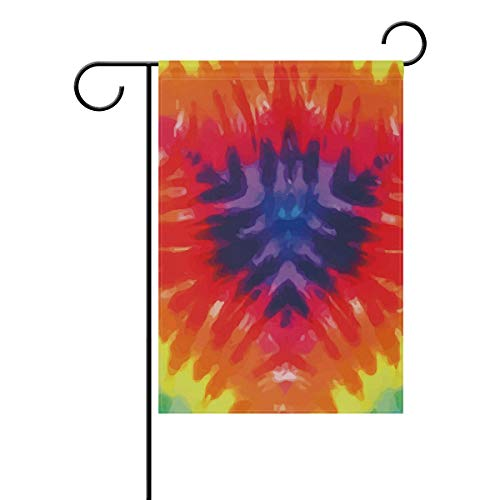 LINDATOP Psychedelic Dye Tie Gardenflagge 30,5 x 45,7 cm doppelseitig Yard Dekoration Polyester Outdoor Flagge Home Party, Polyester, Multi, 28x40(in)