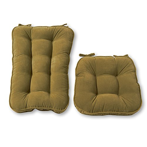 Greendale Home Fashions Hyatt 2-Piece Jumbo Rocking Chair Cushion Set, Fern