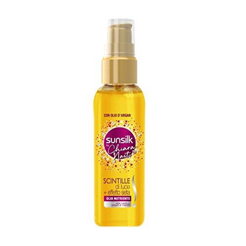 SUNSILK Scintille Di Luce più effetto seta con olio d'argan per capelli spenti e crespi, 75ml