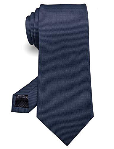 Soophen NEW Mens Necktie SOLID Satin Neck Tie Navy Blue
