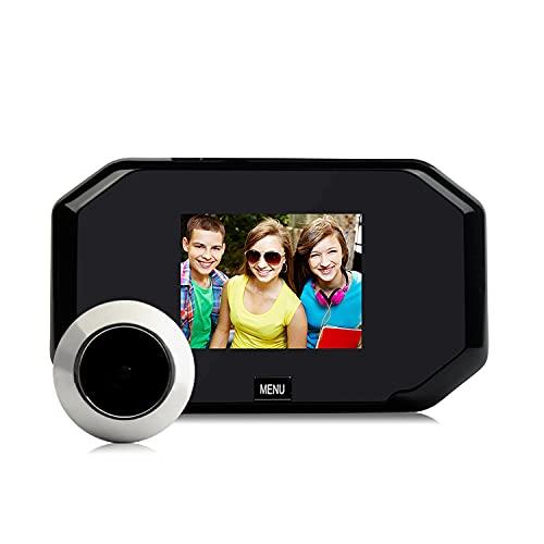 TFACR Puerta Mirilla Visor, La Cámara De Vídeo Inteligente De Seguridad, 3,0' HD Display De 145 ° De Ángulo De Visión Amplio, De 2 MP, con Pilas, Almacenamiento Cíclico para La Seguridad del Hotel