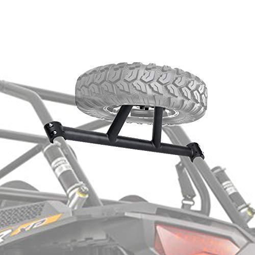 RZR Spare Tire Carrier, KEMIMOTO XP 1000 Spare Tire Mount Compatible with Polaris RZR XP 1000 XP4 2014 2015 2016 2017 2018 2019 2020 Spare Tire Holder by KEMIMOTO(UP TO 30' TIRE)