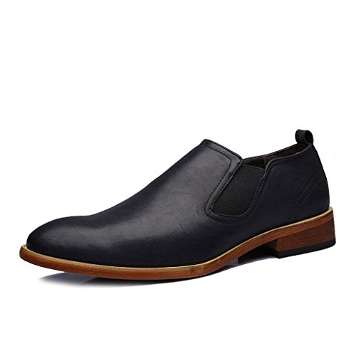 [Placck] メンズ スリッポン ビジネスシューズ 紳士靴 サイドゴア ローカット ウォーキング シューズ イングランド風? 通勤 通気性 歩きやすい Hei45