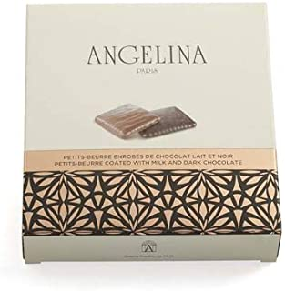 Angelina Paris, Petits Beurres Milk and Dark Chocolate Biscuits (90g)