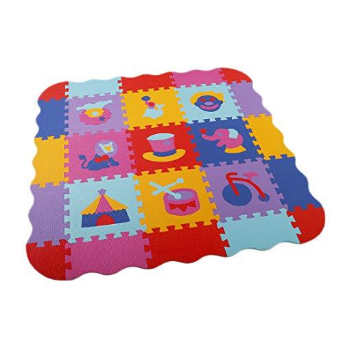 Kaxofang 25 Piezas Baby Eva Foam Puzzle Mats Alfombras para Niios Juguetes Alfombra Niios Enclavamiento Ejercicio Baldosas Alfombra para Niios H