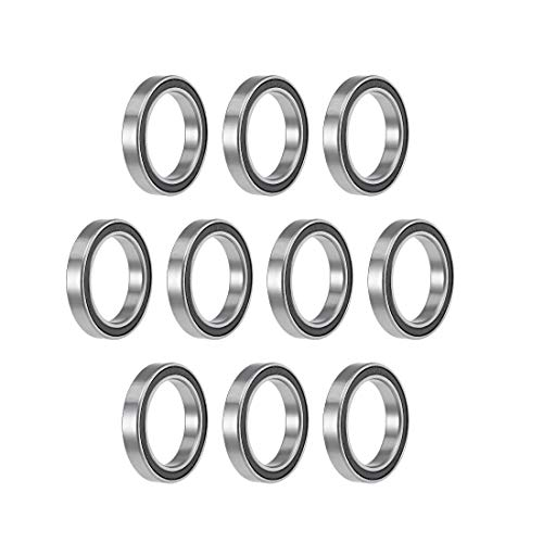 uxcell 6806-2RS Deep Groove Ball Bearings 30mm Inner Dia 42mm OD 7mm Bore Double Sealed Chrome Steel Z2 10pcs