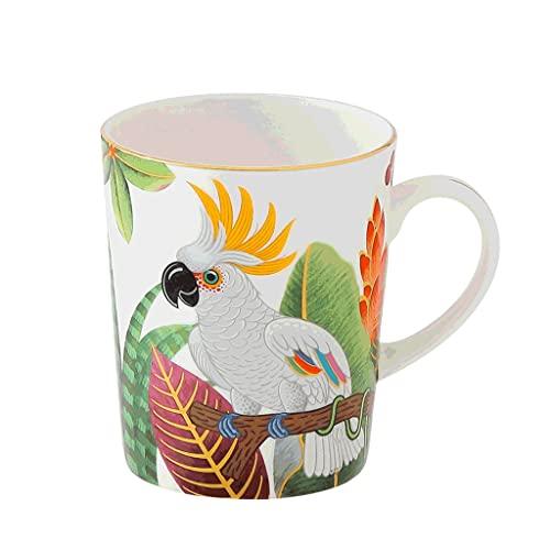 ZANZAN Taza de café de cerámica de la Serie de Aves Volador, Taza de café Pintada Creativa de 250 ml, Taza de Bebida de Oro para el Jugo de Leche de café, etc. 6 Colores (Color : C)