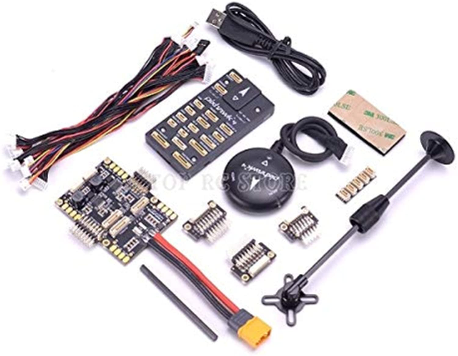 Laliva 4 PX4 Flight Control & GPS Module M8N & PM07 Power Management Board autopilot Combo kit with Plastic Shell  (color  and GPS Set)