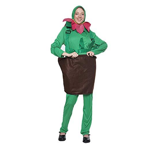 RANRAN Disfraz de Maceta de Plantas Verdes Disfraz Disfraz de Escenario Disfraz de Cosplay,OneSize
