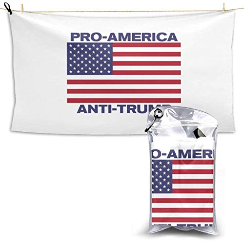 RTRTRT Wah Pro America, Toalla de Secado rápido Anti-Trump 28.7 'x 51' iuml; frac14; OElig; 'Hotel White Bath Towel Toalla de Playa