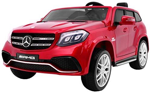 Kinderauto Elektroauto Kinderfahrzeug Spielzeug Elektrofahrzeuge - Mercedes Benz GLS 63 AMG 4WD 2-Sitzer - Rot Lackiert*