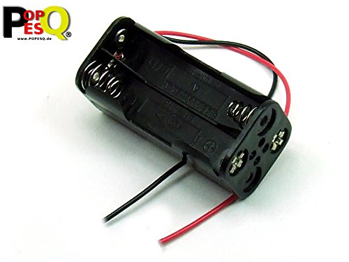 POPESQ® - Contenitore Portabatterie Porta pile/Battery Socket Battery Holder 4 x AAA (R3) compatto - #A1784