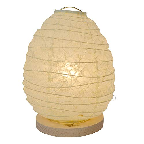 美濃和紙製 テーブルライト スモールライト ミニスタンド egg エッグ 落水紙白 手作り 間接照明 和風照明 和紙照明