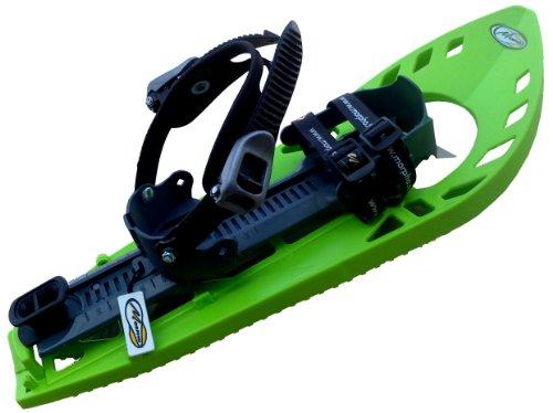 MORPHO 13MHRAQYDLCECOGB - Racchette da Neve da Adulto Supertrimmy Light con Cinturino Caviglia a Doppia Fibbia Stile Snowboard, Senza Imbottitura, Misura Piccola, Colore: Verde Grigio