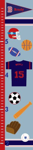 BronStar All Sports Growth Chart Personalized