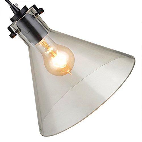 Wings of Wind® Morden vintage Suspension en verre rétro lampe de plafond avec ampoule gratuite