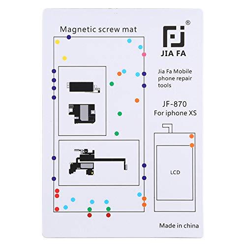 wortek Magnetische schroevenmat compatibel met iPhone XS schroeven voor eigen reparatie incl. kleurentabel voor schroefsoorten
