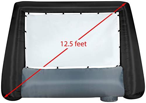 Gemmy 44743 Airblown Inflatable Widescreen Movie Screen Scren, Original 91',Black, Gray, and White