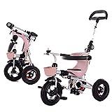 YSA Triciclo para niños Plegable 1-5 años Regalo de cumpleaños Antiguo Triciclo para bebés Rueda vacía de Titanio con empuñadura (Peso de Carga 40 kg)
