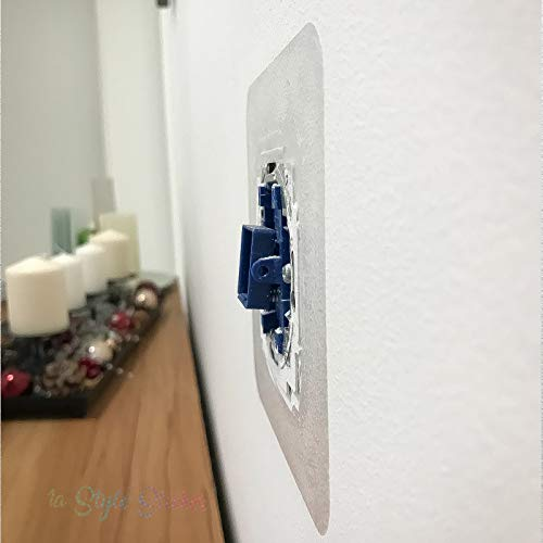 Lichtschalter Steckdochen Schutz Rahmen Aufkleber 6 Stück Gira Merten Glasrahmen Umrandung Schlaterprogramm Transparent