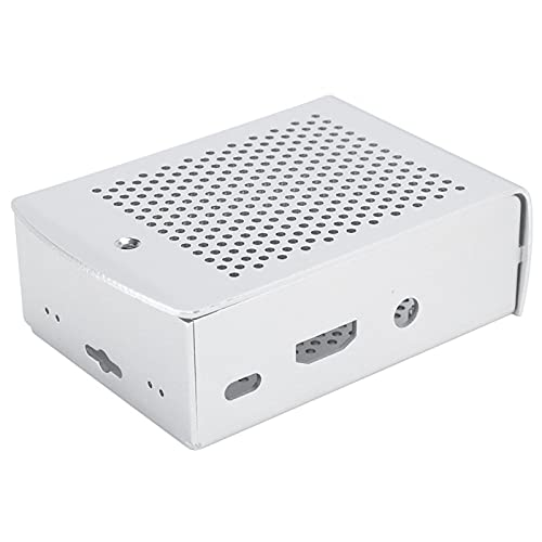 Cooling Protective Box Case Fast Heat Dissipate Upgraded Version Silver Cooling Box Case Metal Shell Protective Case Compatible with Pi 3 B+ 2B