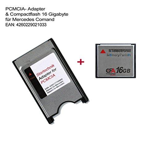 STElectronic PCMCIA Adapter mit CompactFlash Speicherkarte Maximum Kapazität: 16GB für Mercedes COMAND APS* PCMCIA-Adapter APS Code 527 513 - mit CF Speicherkarte 16 Gigabyte - 16 GB