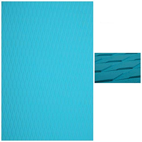 Abahub Non-Slip 2 pcs Traction Pad Deck Grip Mat 30in x 20in Trimmable EVA Sheet 3M Adhesive for Kayak Skimboard Blue
