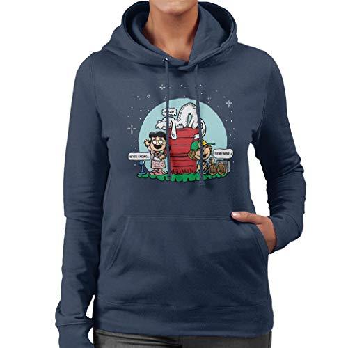 Falkor Peanuts The Neverending Story Mashup Women's Hooded Sweatshirt