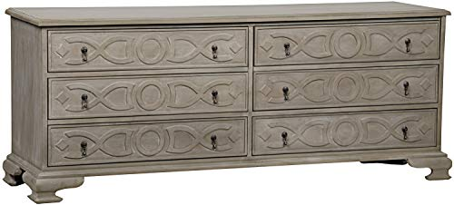 Buy Noir Sofie Weathered 6 Drawer Dresser GDRE136-2WEA