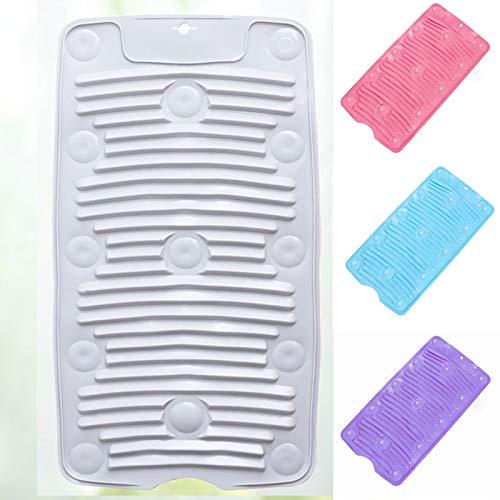 SCKL Waschbrettwaschsalon Silikon Scrubboards Haushalt Falten Waschbrett Mit Saugnapf Rutschfesten Weichen Waschbrett 4 Pcs
