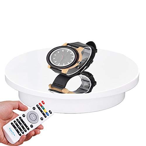 YSJX Plataforma Rotatoria Blanco Base Giratoria Eléctrica de 360 Grados para Fotografía,Figura...