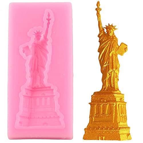 JIANCHEN Stampo per Torta Statua della libertà Stampo in Silicone Stampo Fondente stampi Torta Decorazione Strumenti Caramelle Cioccolato al Cioccolato gumpaste Muffa Torta Pasticcio