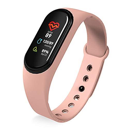 LNLJ Fitnesstracker kleurendisplay hartslag/slaap/bloeddrukmeter, waterdicht IP67, berichtenherinnering, compatibel met Android iOS
